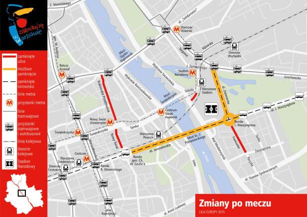 Organizacja ruchu po meczu UM Warszawa