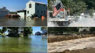 Silne burze, ulewy, powodzie. Gwałtowna pogoda w Stanach