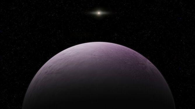 Szukali Planety X, znaleźli daleki, różowawy, skuty lodem obiekt