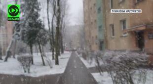 Opady śniegu w Tomaszowie Mazowieckim